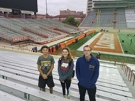 Dom, Hannah, Jake at state meet