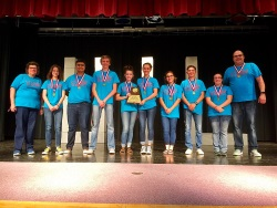 One Act Play Cast and Crew with award
