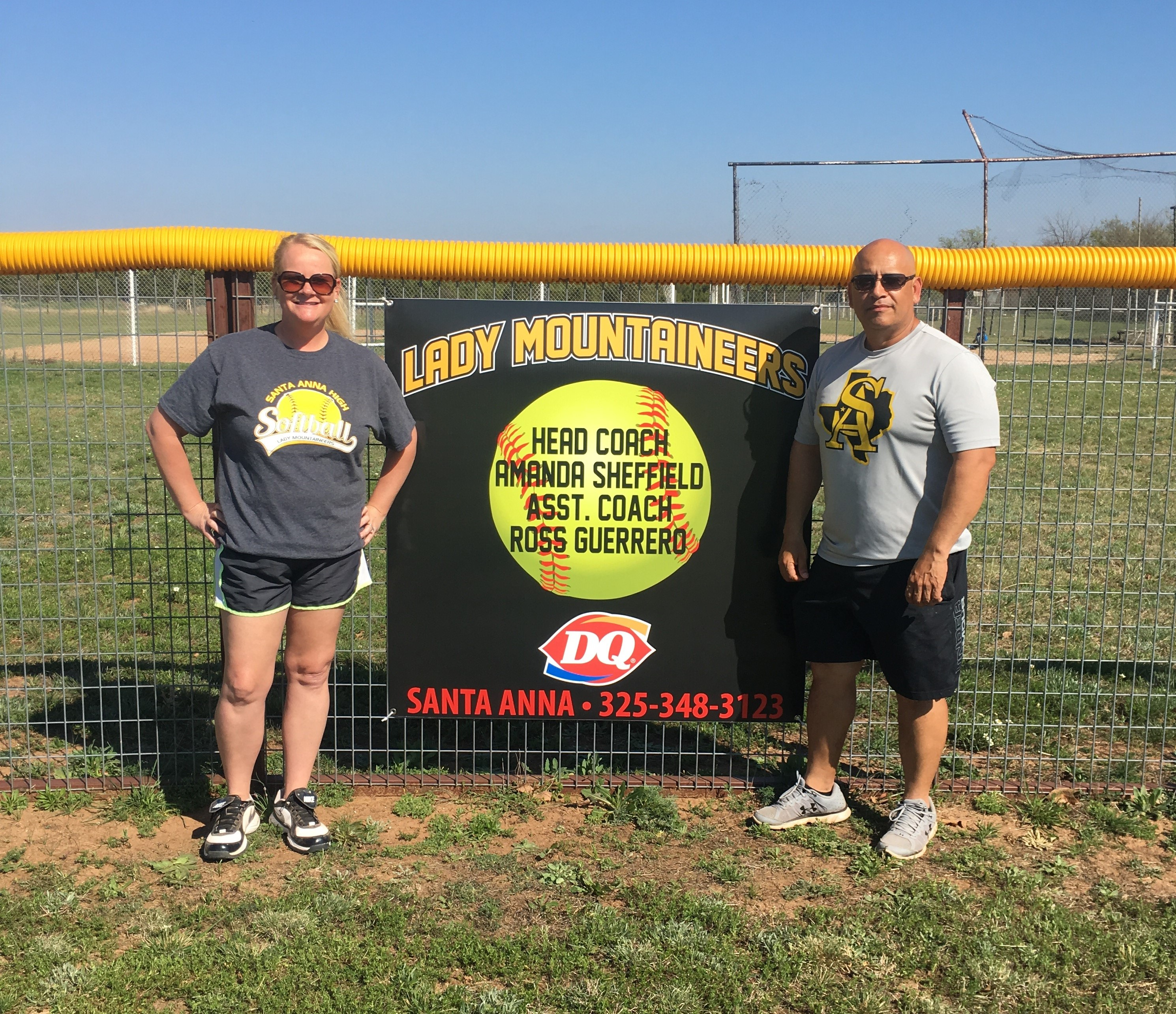 Softball Coaches Sheffield and Guerrero