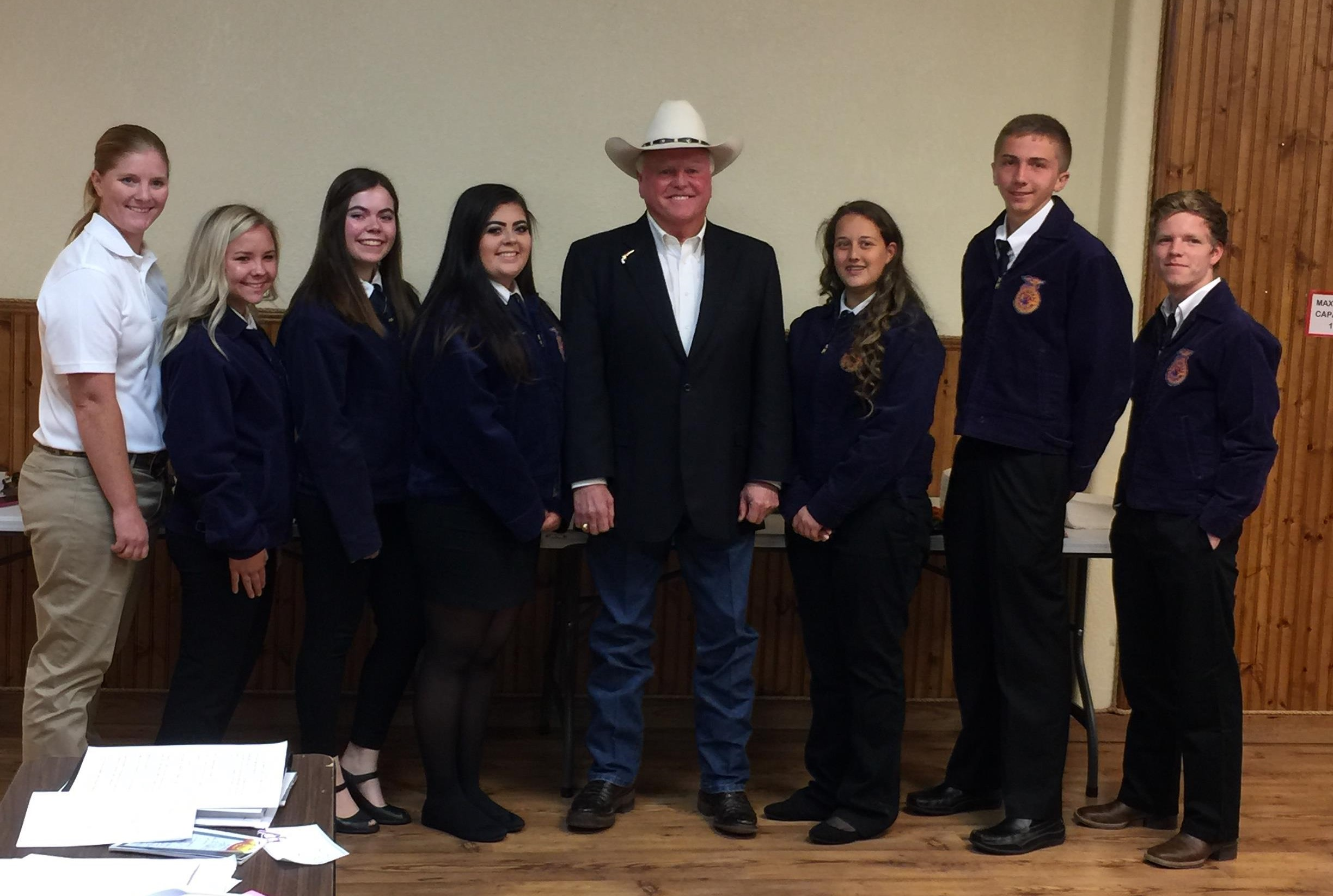 FFA officers meet with Ag Commissioner