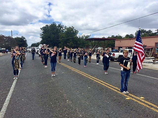 Band Marches in Homecoming Parade