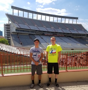 Jake and Domanic at State track meet