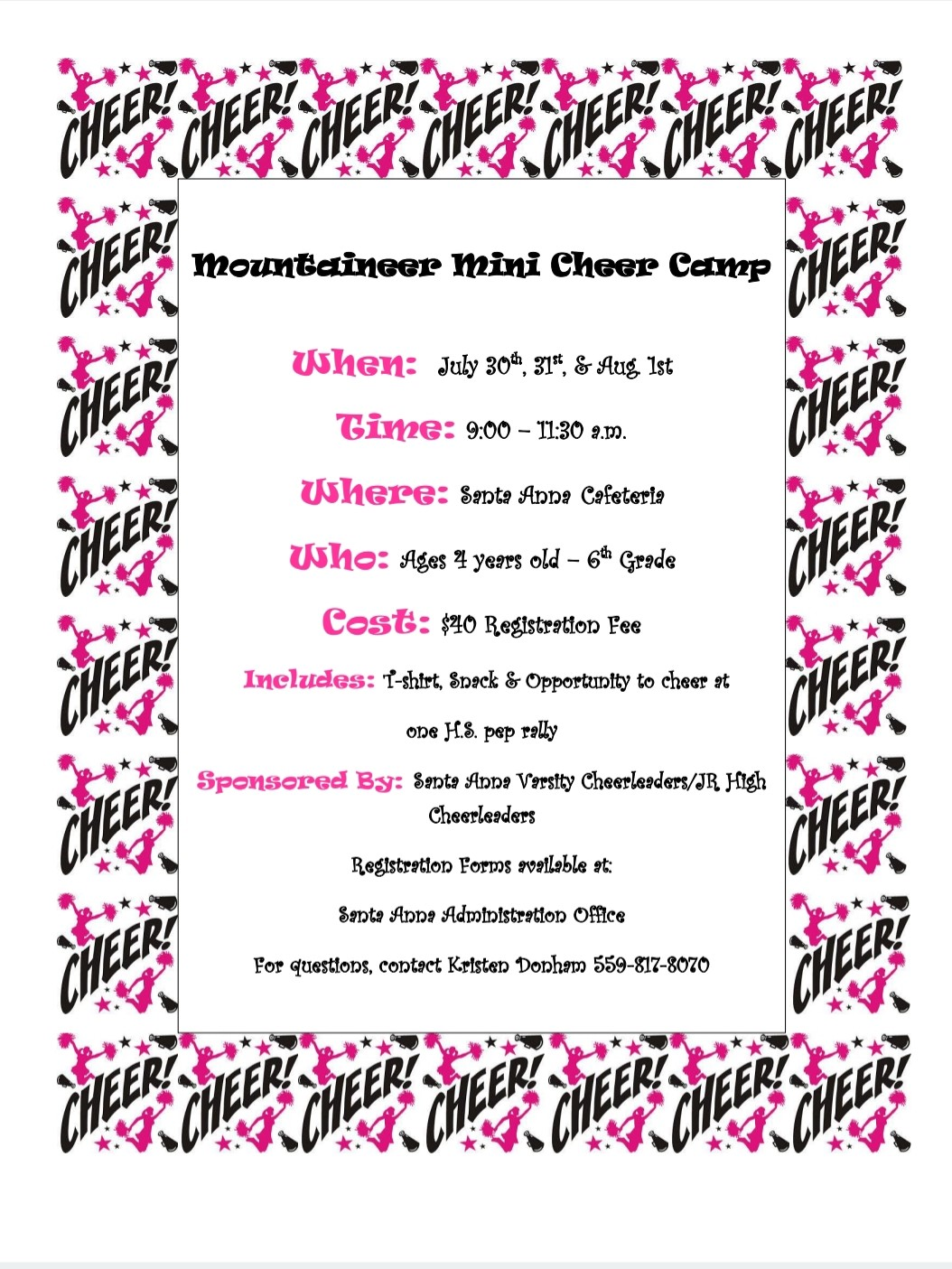 Cheer Flyer Information