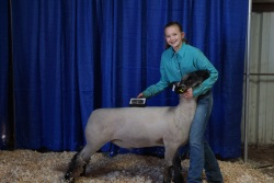 Makayla with Grand Champion lamb