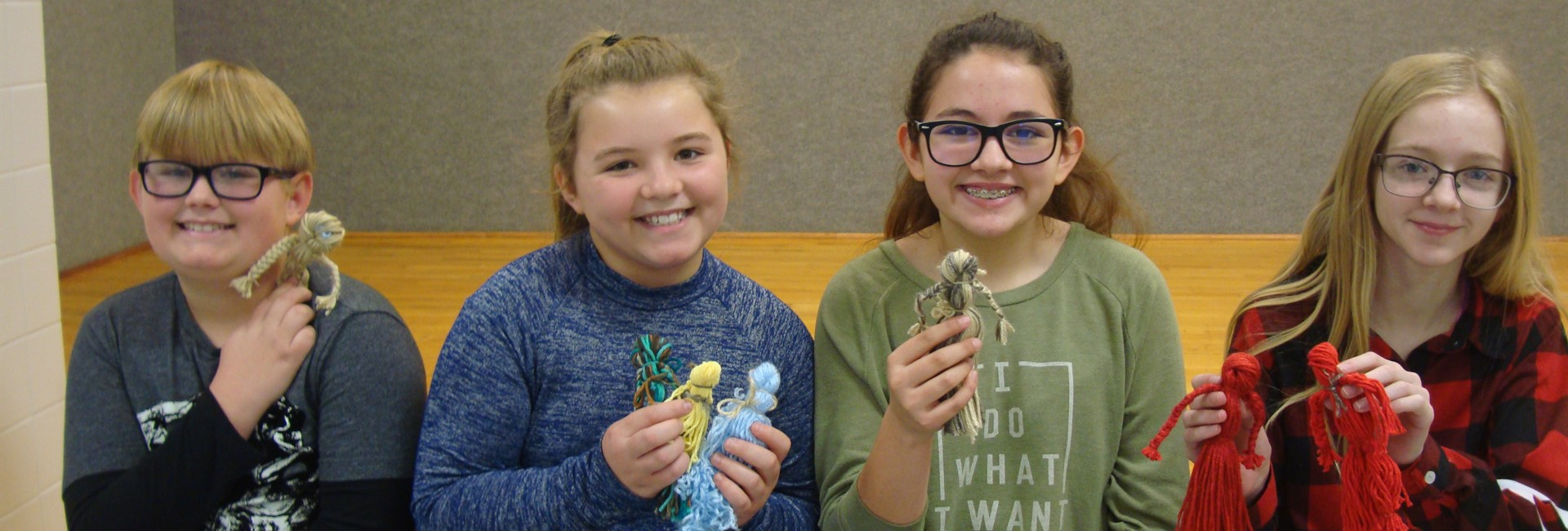 Sixth Graders Made Depression Era Yarn Dolls